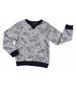 GYMP | Sweater met oldtimers grijs