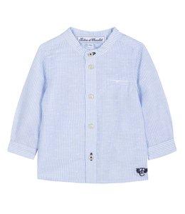 TARTINE ET CHOCOLAT   Hemdje gestreept blauw & wit