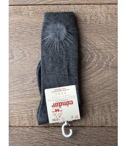 CÓNDOR | Kniekousjes pompom fur donkergrijs