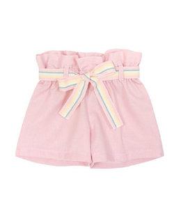 BALLOON CHIC | Shortje met kleurige ceintuur - Roze