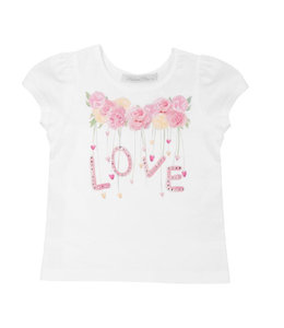 BALLOON CHIC | T-shirtje LOVE - Wit