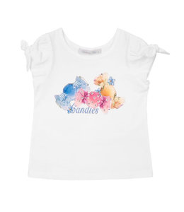 BALLOON CHIC | T-shirtje CANDIES - Wit