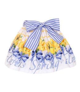 BALLOON CHIC | Tulpenrokje - Wit,blauw & geel
