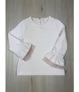 LAPIN HOUSE | T-Shirtje met trompetmouwen ZONDER KRAAG roze