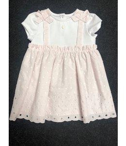 PATACHOU | 2-kleurig jurkje met strikjes - Roze & Wit