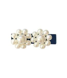 MILLEDEUX | Haarspeld 2 Pearl Flowers - Navy