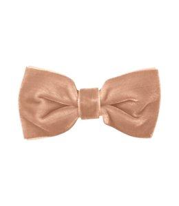 MILLEDEUX | Haarspeld fluwelen strik - Powder Pink