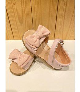CLARYS | Sandaaltjes met velco & strik - Roze