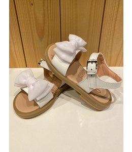CLARYS | Sandaaltjes met dubbele strik - Wit