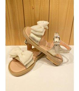 CLARYS | Sandaaltjes met dubbele strik - Goud