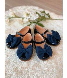 CLARYS | Gespschoentje strikje - Marineblauw