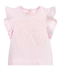 LILI  GAUFRETTE | T-shirtje met strikdetail - Roze