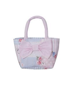 LAPIN HOUSE   Handtasje met strik - Blauw & Roze