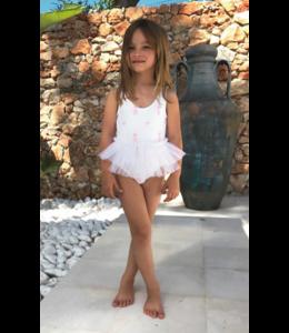 MARIA - BIANCA | Badpakje Balletshoes - Wit & Roze