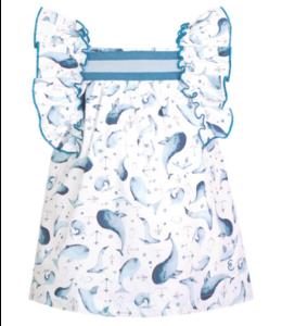EVE CHILDREN   Jurkje met zeedieren - Blauw & wit