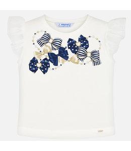 MAYORAL | T- shirtje met strikdetail - Wit