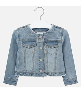 MAYORAL | Jeansjasje met ruffles - Jeansblauw