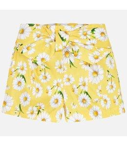 MAYORAL | Shortje met bloemdetail - Geel