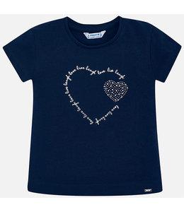 MAYORAL | T-shirtje met hartmotief - Blauw