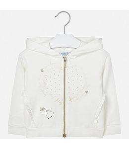 MAYORAL | Sweater met kap en ruffles - Ecru