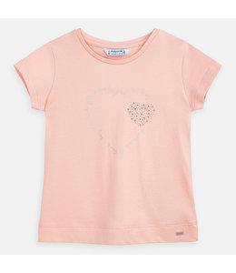 MAYORAL | T-shirtje met hartmotief - Peach