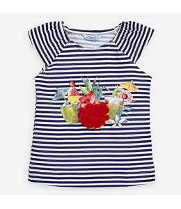 MAYORAL | T- shirtje COCKTAIL - Wit & Blauw