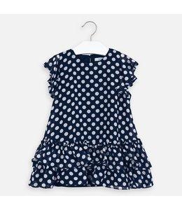 MAYORAL | Bolletjes jurk - Blauw & Wit