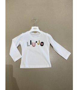 LIU JO Baby & Honey | Longsleeve met logo - Snow white