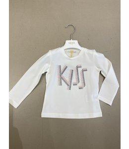 "LIU JO Baby & Honey | Longsleeve ""KISS"" - Snow white"