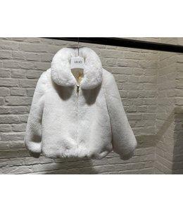 LIU JO Baby & Honey | Teddy jas met rits - Snow white