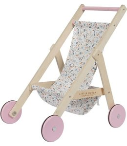 LITTLE DUTCH | Houten poppenbuggy - Flowers