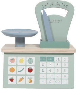 LITTLE DUTCH | Houten speelgoed weegschaal - Mint