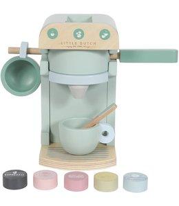 LITTLE DUTCH | Houten speelgoed koffiezetapparaat - Mint