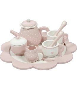 LITTLE DUTCH | Houten thee service Adventure - Pink