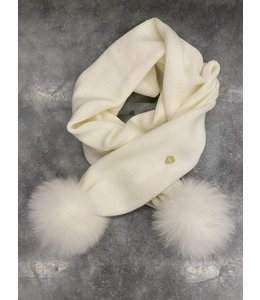 IL TRENINO | Sjaal met pompom - Wit