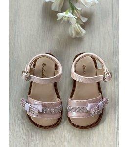 ELI BY CUCADA  | Sandaal met klein strikje - Roze