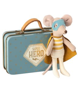 MAILEG | Maileg Superhero muis in koffer - Kleine broer 10 cm