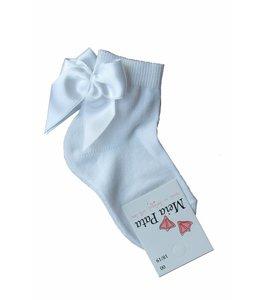 MEIA PATA | Korte kousjes strikje achter - Wit