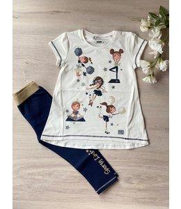 MAYORAL | 2- Delig set t-shirt & legging - Blauw