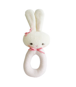 ALIMROSE | Lisa konijn rammelaar - White & Pink
