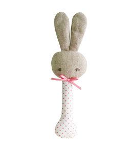 ALIMROSE | Baby konijn piepspeeltje - White & Pink