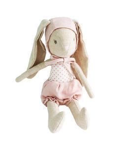 ALIMROSE | Baby konijn met kapje - Pink