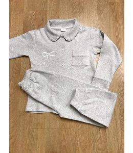 LIL & LOU | Klassieke pyjama - Grijs