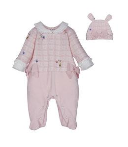 LAPIN HOUSE | Babypakje met bijpassend mutsje - Roze