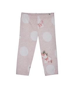 LAPIN HOUSE | Legging met bloemen & bollen - Roze