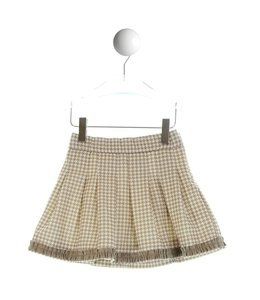 SPECIAL DAY | Rok in houndstooth stof - Camel & Ecru