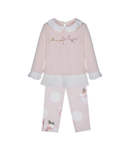 LAPIN HOUSE | 2-delig Set sweater & legging - Roze