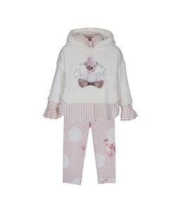 LAPIN HOUSE | 2-delig Set sweater & legging - Ecru & Roze
