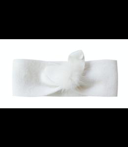 STORY LORIS | Haarband met pompom - Wit