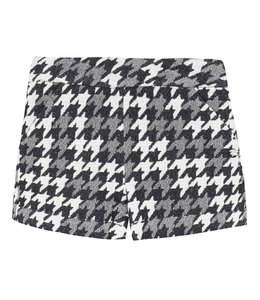 TARTINE ET CHOCOLAT | Short in houndstooth stof - Blauw & Ecru